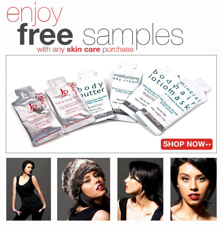 Dead Sea skin care free samples special offer!