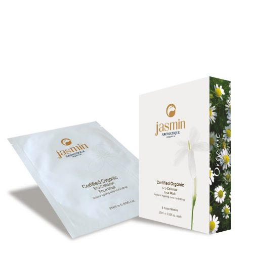 Jasmin Organics Eco-Cellulose Face Mask - Natural Ageing and Hydrating - Cell Activator Collection